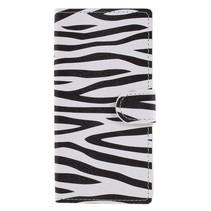 Booktype Hoesje Sony Xperia XA2 - Zebra