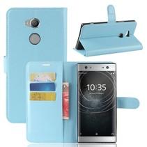 Litchee Booktype Hoesje Sony Xperia XA2 Ultra - Blauw