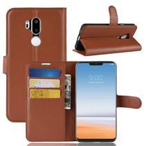 Litchee Booktype Hoesje LG G7 ThinQ - Bruin