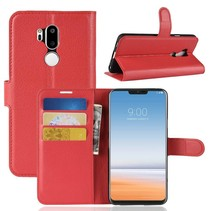 Litchee Booktype Hoesje LG G7 ThinQ - Rood