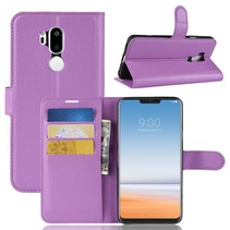 Litchee Booktype Hoesje LG G7 ThinQ - Paars