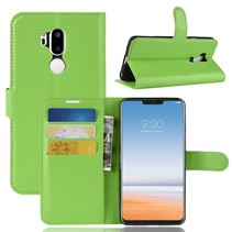 Litchee Booktype Hoesje LG G7 ThinQ - Groen