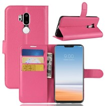 Litchee Booktype Hoesje LG G7 ThinQ - Roze