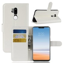 Litchee Booktype Hoesje LG G7 ThinQ - Wit
