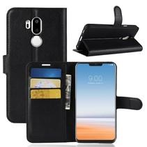 Litchee Booktype Hoesje LG G7 ThinQ - Zwart