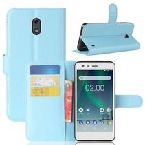 Litchee Booktype Hoesje Nokia 2 - Blauw