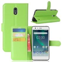 Litchee Booktype Hoesje Nokia 2 - Groen