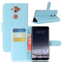 Litchee Booktype Hoesje Nokia 9 / 8 Sirocco - Blauw