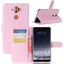 Litchee Booktype Hoesje Nokia 9 / 8 Sirocco - Roze
