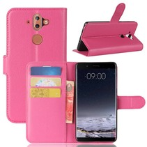 Litchee Booktype Hoesje Nokia 9 / 8 Sirocco - Donkerroze
