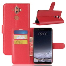 Litchee Booktype Hoesje Nokia 9 / 8 Sirocco - Rood