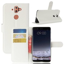 Litchee Booktype Hoesje Nokia 9 / 8 Sirocco - Wit