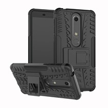 Hybrid Hoesje Nokia 6 (2018) - Zwart