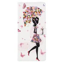 Booktype Hoesje Nokia 7 Plus - Paraplu Meisje