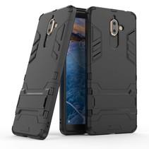 Hybrid Hoesje Nokia 7 Plus - Zwart