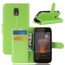 Litchee Booktype Hoesje Nokia 1 - Groen