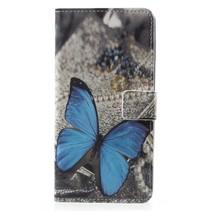 Booktype Hoesje Sony Xperia XZ2 - Blauwe vlinder