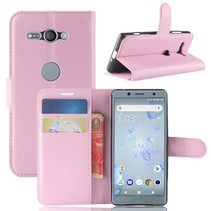 Litchee Booktype Hoesje Sony Xperia XZ2 Compact - Roze