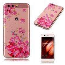 TPU Hoesje Huawei P10 - Bloemen