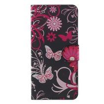 Booktype Hoesje Huawei P10 Plus - Roze Vlinders