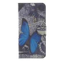 Booktype Hoesje Huawei P10 Plus - Blauwe vlinder