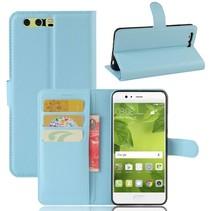 Litchee Booktype Hoesje Huawei P10 Plus - Blauw