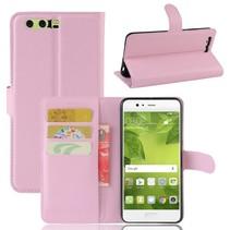 Litchee Booktype Hoesje Huawei P10 Plus - Roze