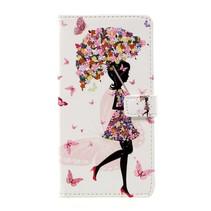Booktype Hoesje Huawei P10 Plus - Paraplu Meisje