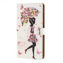 Booktype Hoesje Huawei P20 - Paraplu Meisje