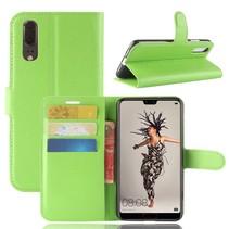 Litchee Booktype Hoesje Huawei P20 - Groen