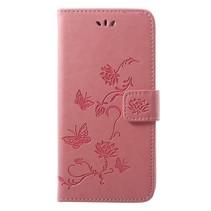 Booktype Hoesje Huawei P20 - Roze
