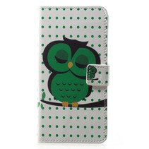 Booktype Hoesje Huawei P20 - Uil