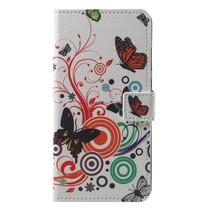 Booktype Hoesje Huawei P20 - Vlinders