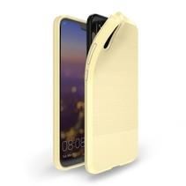 TPU Hoesje Huawei P20 - Goud
