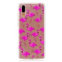 TPU Hoesje Huawei P20 - Flamingo's