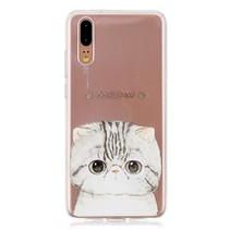 TPU Hoesje Huawei P20 - Meow