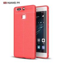 Litchee TPU Hoesje Huawei P9 - Rood