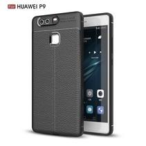 Litchee TPU Hoesje Huawei P9 - Zwart