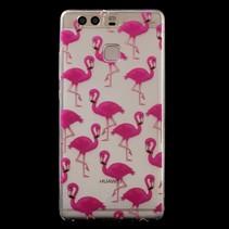 TPU Hoesje Huawei P9 - Flamingo's