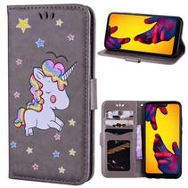 Booktype Hoesje Huawei P20 Lite - Unicorn