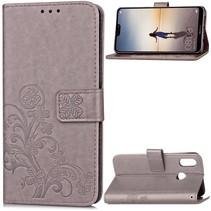 Booktype Hoesje Huawei P20 Lite - Grijs