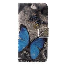 Booktype Hoesje Huawei P20 Lite - Blauwe vlinder