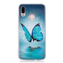 TPU Hoesje Huawei P20 Lite - Blauwe vlinder