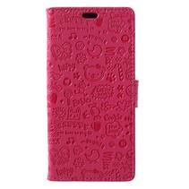 Booktype Hoesje Huawei P20 Pro - Roze Figuurtjes