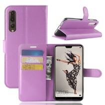Litchee Booktype Hoesje Huawei P20 Pro - Paars