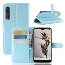 Litchee Booktype Hoesje Huawei P20 Pro - Blauw