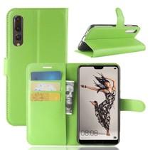 Litchee Booktype Hoesje Huawei P20 Pro - Groen