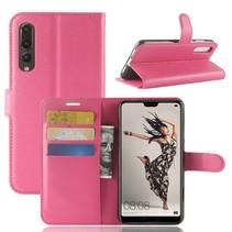 Litchee Booktype Hoesje Huawei P20 Pro - Roze
