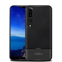 Litchee TPU Hoesje Huawei P20 Pro - Zwart