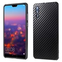 Carbon Hardcase Hoesje Huawei P20 Pro - Zwart